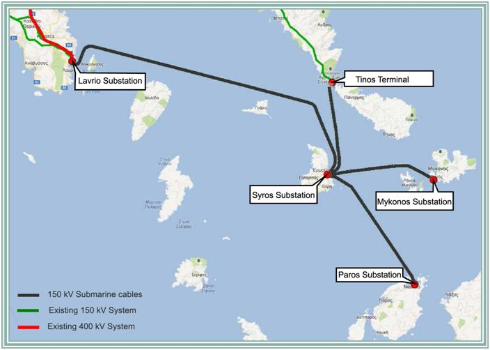Cycladic Islands Interconnection with the Hellenic Power Transmission System